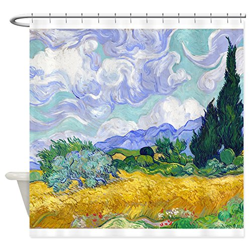 CafePress Van Gogh - Wheat Fields Decorative Fabric Shower Curtain ()