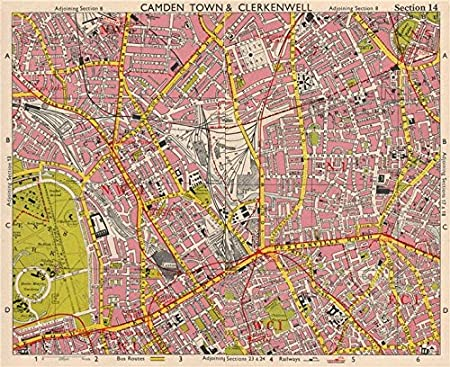 Kentish Town Map N LONDON. Camden/Kentish Town Clerkenwell Bloomsbury Islington