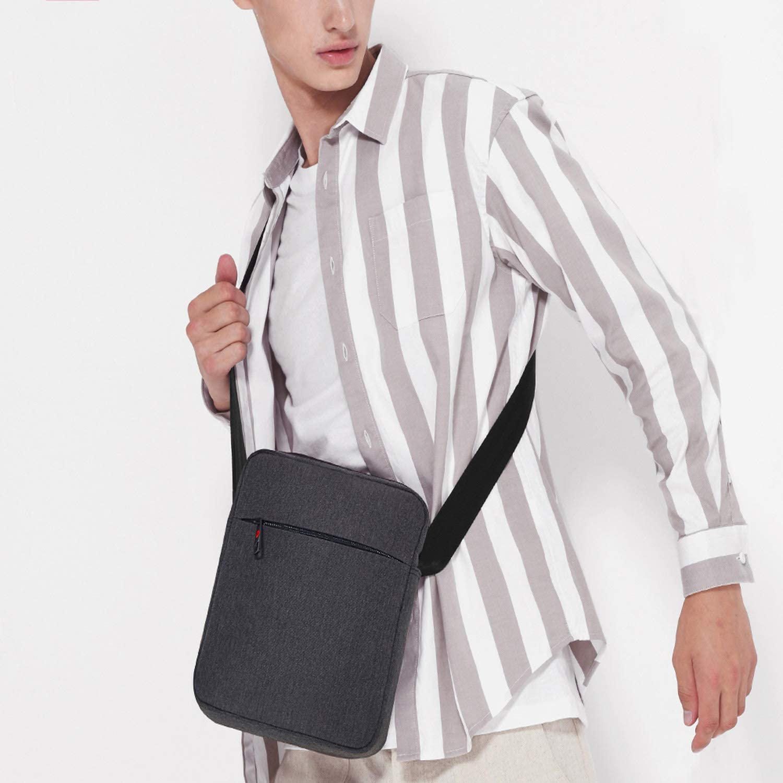 Men Messenger Bag Waterproof Shoulder Bag For Women Business Travel Crossbody Bag,Black Grey,China