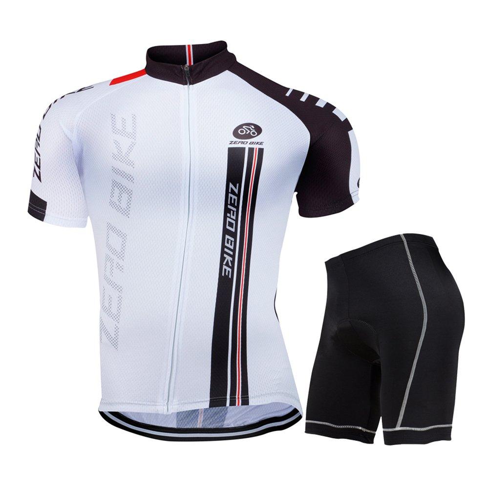 ZEROBIKE® Men Short Sleeves Cycling Jersey Set Bike Cycle Jacket Comfortable Breathable Cycling Clothing Sportswear karru