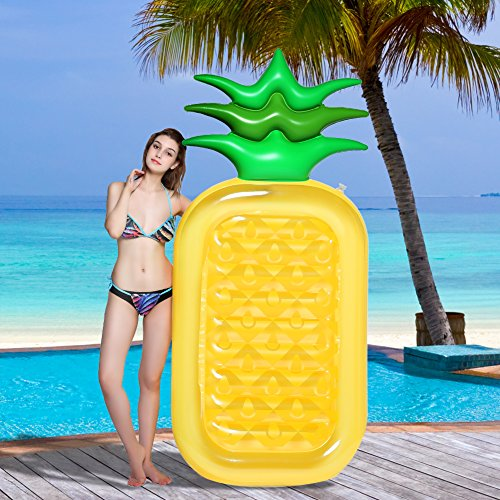 BESAZW Pool Pineapple,Pool Floats for Adults,Inflatable Pool Float Slide,Swimming Pool Floats Party Tube,77 inch[2018 New Version FDA]