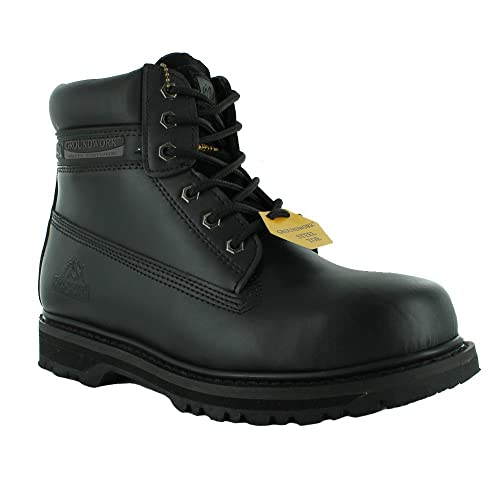 f195c42ad9e Mens Groundwork Safety Steel Toe Cap Durable Combat Lace up Work Wear Boots  Shoes