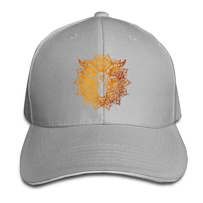 Baphomet Goat Head Satanic Pentagram Adjustable Hip Hop Cap Baseball Caps Dad  Hat Ash 785e309e2bb
