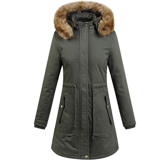 Amazon.com: LBL - Chaqueta de invierno para mujer, con ...