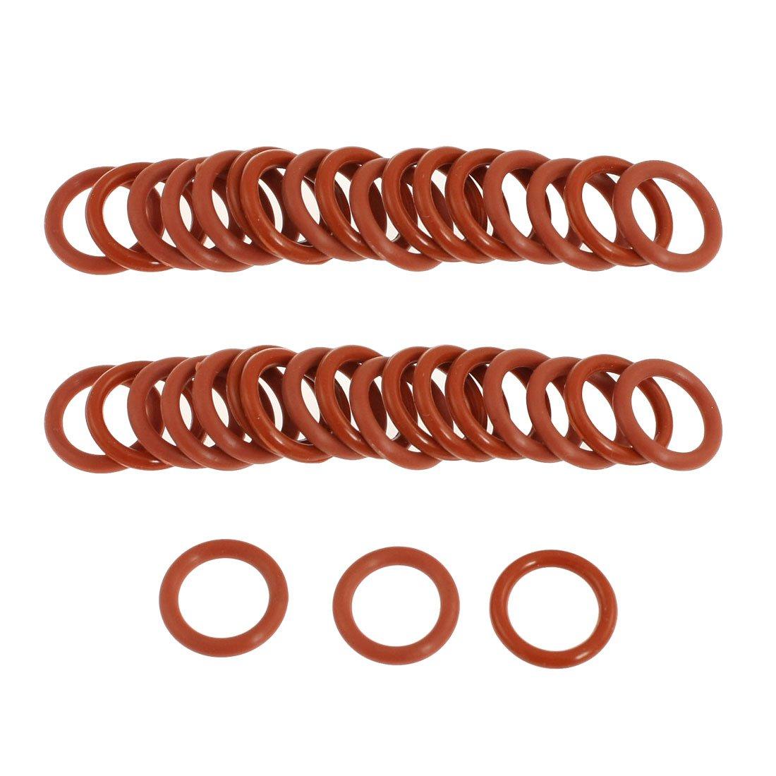 Sourcingmap/® 50 St/ück 12 mm x 8 mm x 2 mm Gummi O-Ring /Öldichtung Ersatz rot