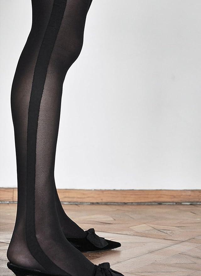 fc3dbb490bf Swedish Stockings Andrea Smoking Luxury Stockings 50 Den High Waist Pantyhose  at Amazon Women s Clothing store
