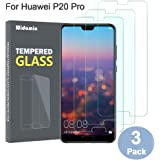 3Pack, Screen Protector Compatible with Huawei P20 Pro Screen Protector, Tempered Glass Screen, 9H Hardness, Crystal Clearity, No-Bubble,screen film