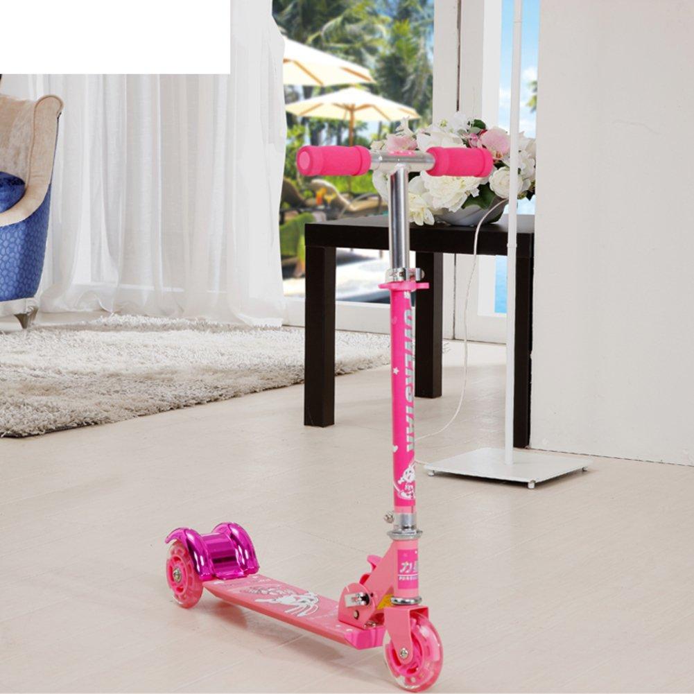 Vespa/Plegables bloques deslizantes de bebé/ rueda intermitente Scooter-rosa
