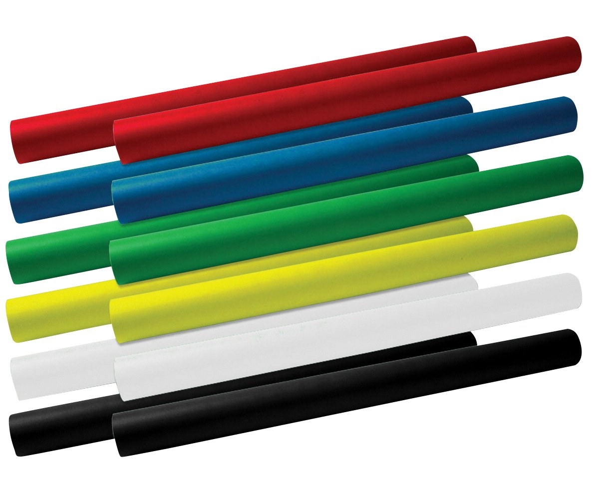 School Smart Fade Resistant Art Roll, 24 Inches x 12 Feet, Assorted Colors, Pack of 12