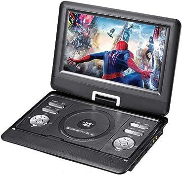 JAYE Reproductor de DVD portátil, 10.1 Pulgadas Reproductor de DVD Giratorio DIVX USB TV portátil Portatil Reproductor de DVD TV Cargador de Auto RCA con batería: Amazon.es: Electrónica