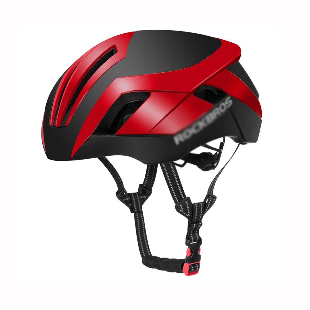 Bao Xing Bei Firm Fullface- & BMX-Helme Fahrradhelm Fahrradhelm Helm Männlich Mountain Road Autozubehör (Farbe   ROT, Größe   Head Circumference 57cm - 62cm)