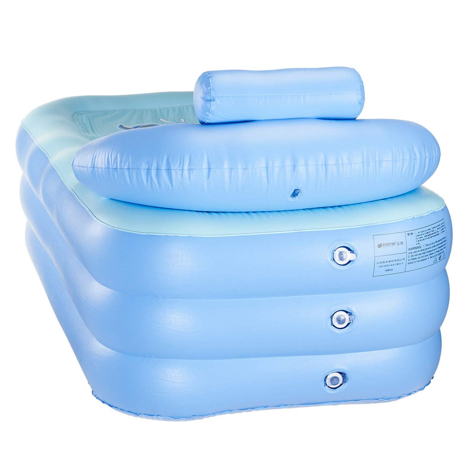 LZHQT Blow Up Adult PVC Folding Portable Foldable Bathtub Inflatable Bath Tub Air Pump by LZHQT (Image #5)