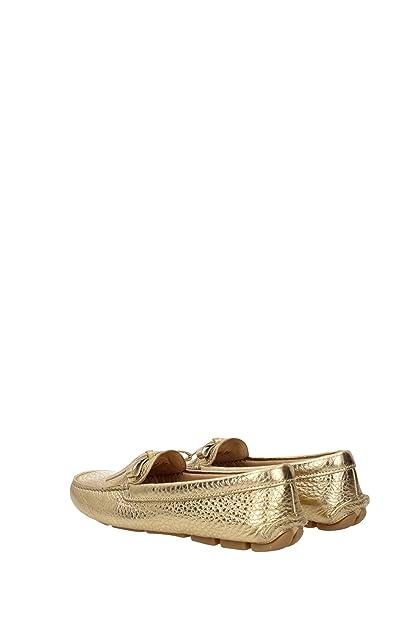 Prada Mocasines Mujer - (1D530BPLATINO) 35 EU: Amazon.es: Zapatos y complementos