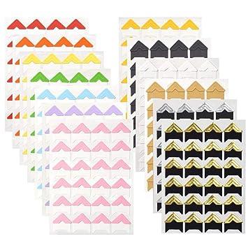 WXJ13 13 hojas, 13 colores de montaje foto esquinas álbum de foto ...