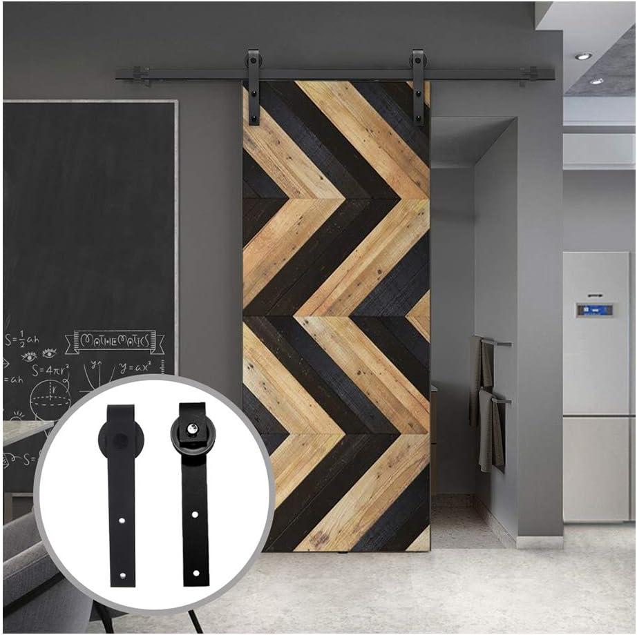 LWZH 4FT/122cm Herraje para Puerta Corredera Kit de Accesorios para Puertas Correderas,Negro J-Forma: Amazon.es: Bricolaje y herramientas