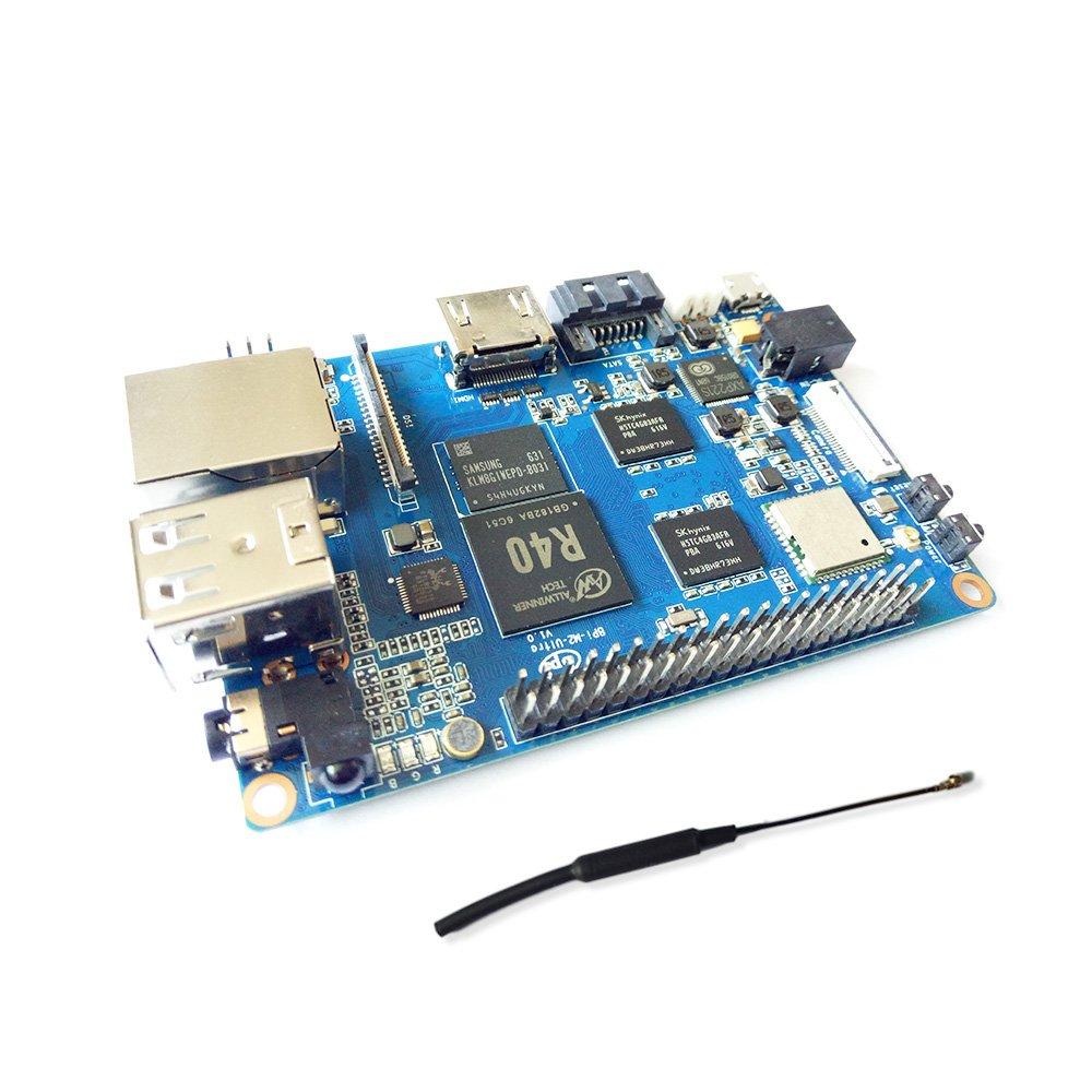 SmartFly Info Banana Pi BPI M2 Ultra R40 Quad-Core 2GB DDR3 RAM with SATA WiFi Bluetooth 8GB eMMC Demo Board Single Board Computer