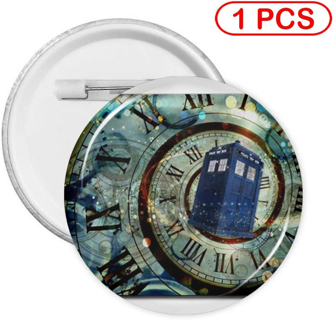 YXXZ Police Box Round Badge Brooches and Pins Accessories Multiple Packs