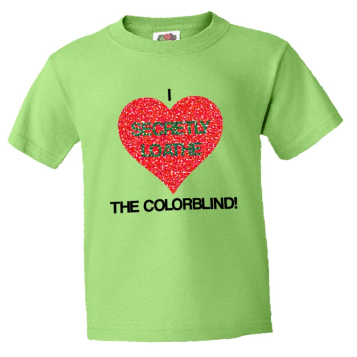 Amazon.com: PleaseMeTees Youth I Secretly Loathe Hate The Colorblind ...