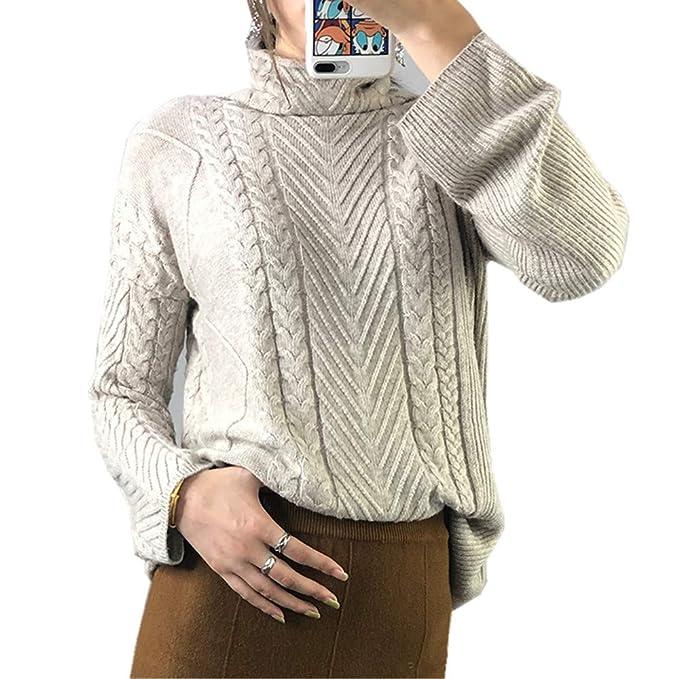 Wenwenma Damen Mode Kaschmir Pullover Rollkragen Pullover