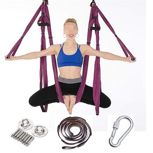 DNFITNESS Trapecio Honda Yoga Studio Hamaca aérea Hamaca de ...