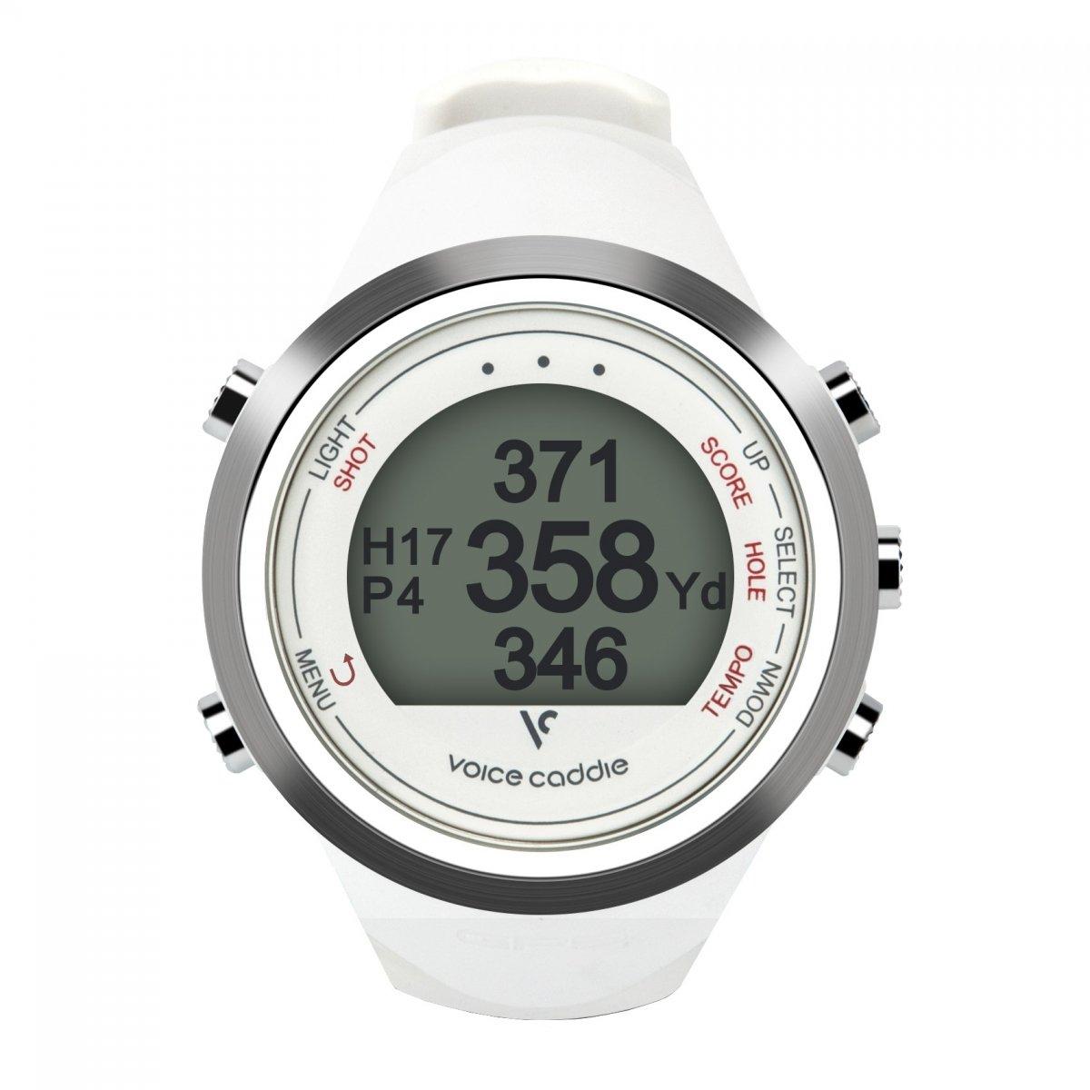 Voice Caddie T-1WH Hybrid Golf GPS Watch - White   B01M1YRVOE
