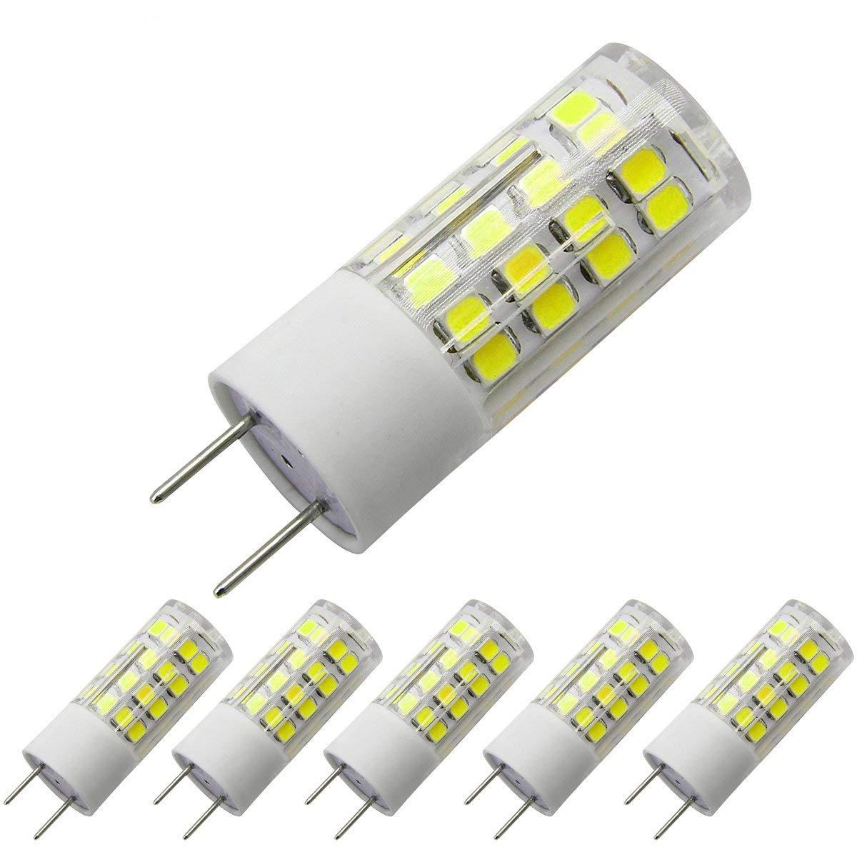 G8 Led Bulb 120V, 6000K Daylight White T4 Gy8.6 Bi-pin