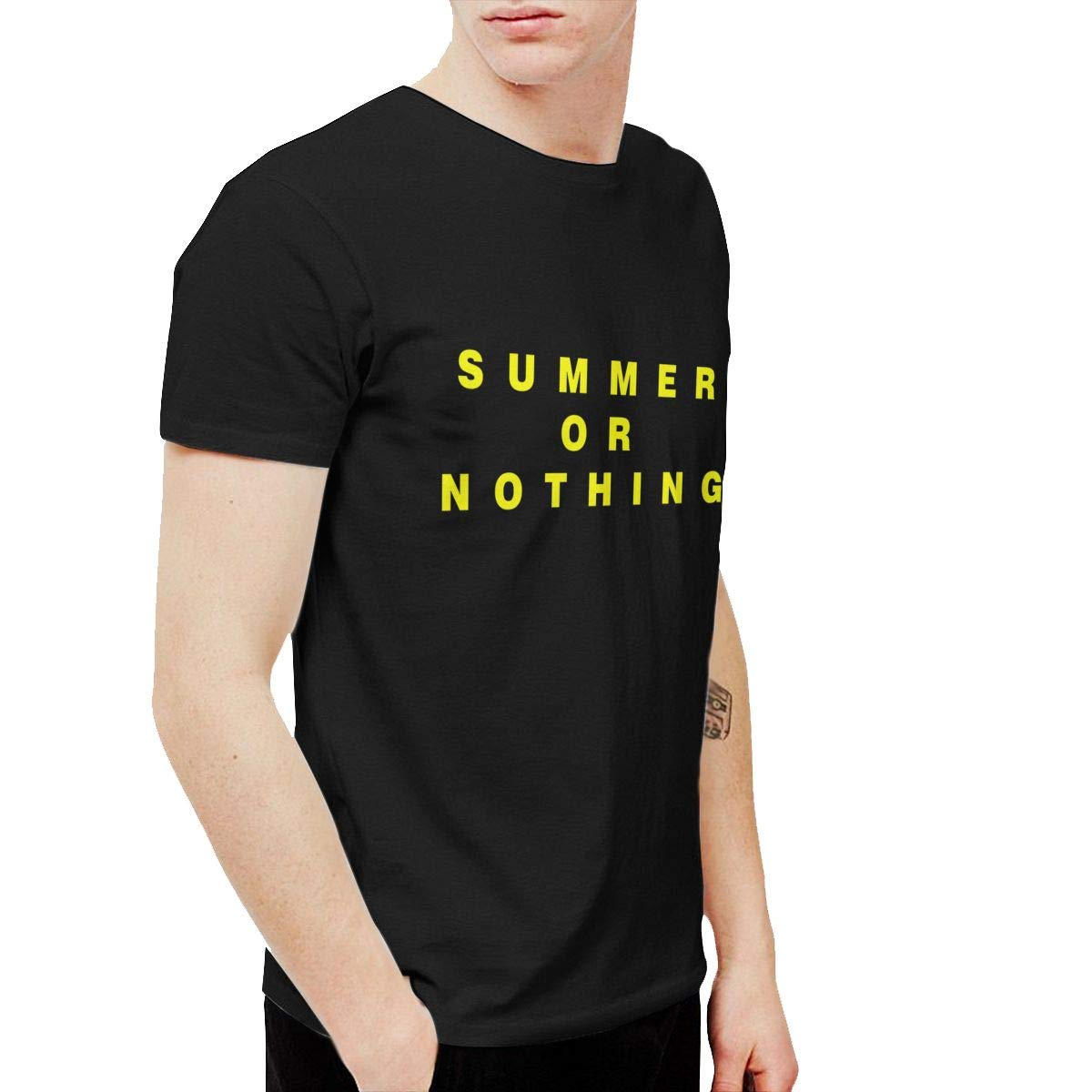 Twocjlrq Summer Or Nothing Comfortable Tshirt Black
