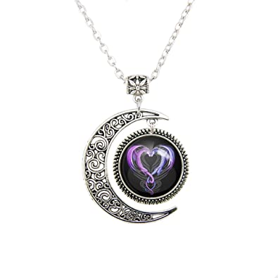 Amazon moon pendant dragon heart necklace dragons pendant moon pendant dragon heart necklace dragons pendant necklace dragons necklace dragons jewelry necklaces mozeypictures Gallery