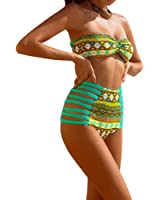Uskincare Bikini et Maillot de Bain Deux Pièce Gaze Réticulaire Sexy des Femmes (3-Jaune, L)