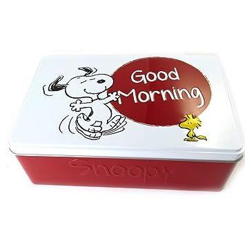 Amazonde Zucker Box Snoopyweiß Rot Guten Morgen