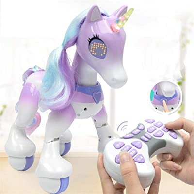 Unicorn Electric Smart Horse Remote Control Unicorn Touch Induction Electronic Pet : Baby