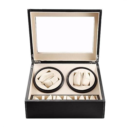 Coffret Watch Winder Tocadiscos reloj Remontoir de Luxe para 4 ...