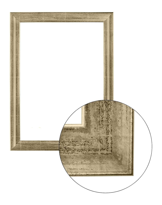 Framo36 Luxus 70 cm x 120 cm MDF Holz Bilderrahmen in Farbe Silber Leaf