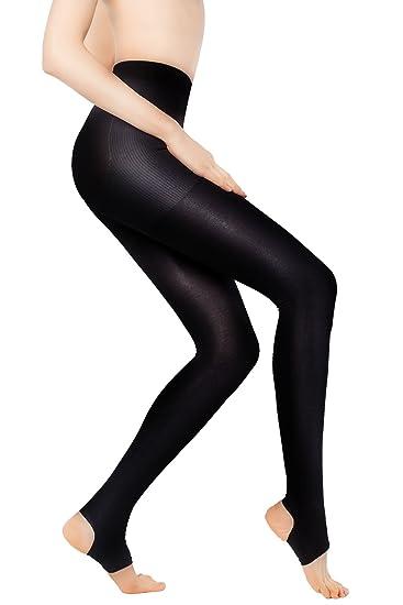 c7f2aa4cab +MD 15-20mmHg Women's Open Toe Compression Pantyhose Stirrup Medical  Quality Compressive Stocking BlackM