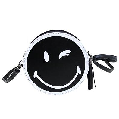 Amazon.com: Mini Mujeres Monederos Cara Sonriente Crossbody ...