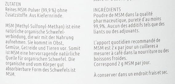 MSM en polvo (Metilsulfonilmetano) 1000g