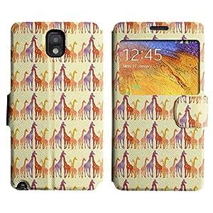 LEOCASE jirafa linda Funda Carcasa Cuero Tapa Case Para Samsung Galaxy Note 3 N9000 No.1007355