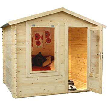 home office cabin. 2.5m X 2m Mini Wooden Log Cabin Studio - Home Office, Craft Room, Office