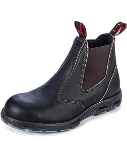 Redback USBBK Black - Calzado de protección de cuero para hombre, color negro, talla 43