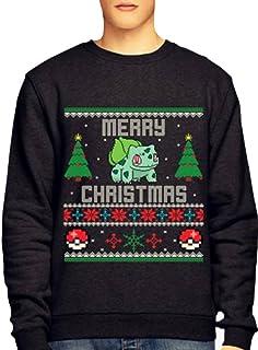 Pokemon Christmas Sweater.Pokemon Bulbasaur Christmas Sweater Small Amazon Co Uk