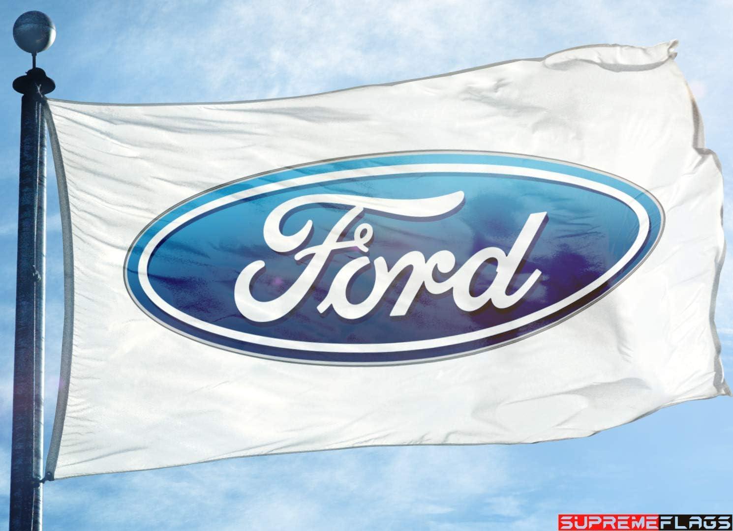Ford Fahne Banner 91 4 X 152 4 M Auto Weiß Sport Freizeit