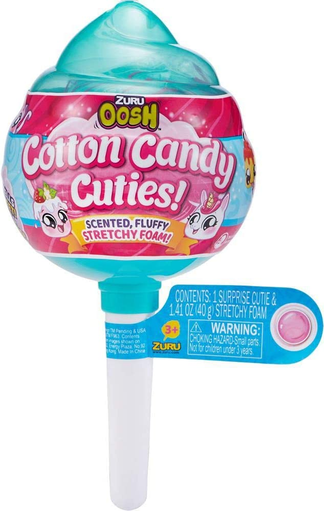 Zuru Oosh Slime Cotton Candy Cuties Medium Pop with Cutie Surprise - Stretchy Foam Series 1 Random Packaging
