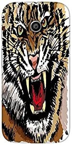Snoogg Sketch Of Tiger Vector Illustration Designer Protective Back Case Cove...