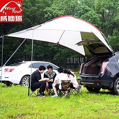 ZHJLOP Carpa Aire Libre Portátil Remolque de Camper Autocontrolado Aluminio Impermeable Toldo Playa Carpa con Dosel Gran Gazebo Refugio de Sol: Amazon.es: Deportes y aire libre