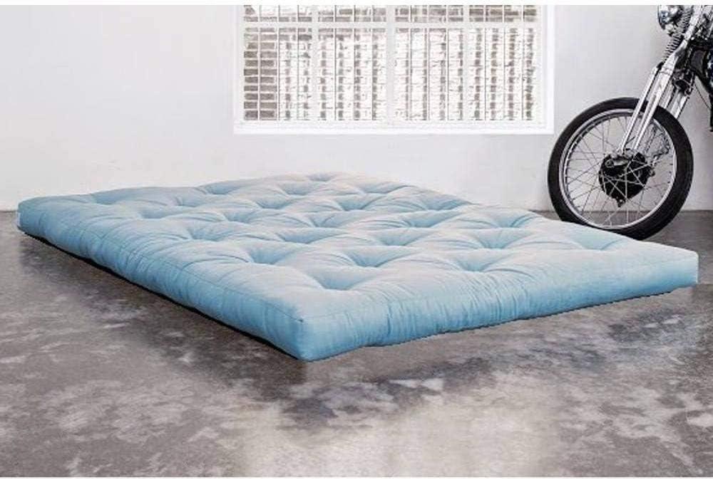KARUP Colchón futón Doble Látex Azul Celeste 200 * 200 * 18 cm: Amazon.es: Hogar