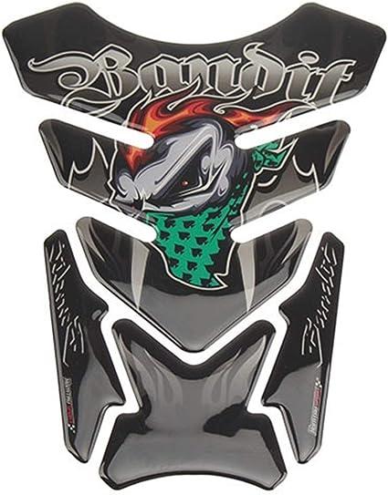 Color : MP18 001 0213 3D del cr/áneo Pegatinas de Moto del coj/ín del Tanque Protector del Gel de la Etiqueta engomada for Honda CB CBR Suzuki Bandit 600 650 1200 1250 650S 600S Yamaha