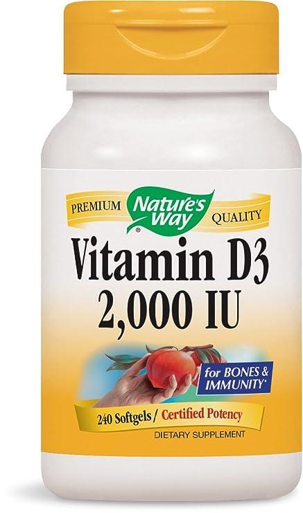La vitamina D3, 2.000 UI, 240 Cápsulas Blandas - Camino de la Naturaleza