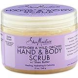 SheaMoisture Lavender/Wild Orchid Hand & Body Scrub, 12 Ounce