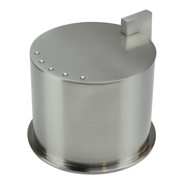 Ginger Kubic Solid Brass Vanity Jar No. 1, Medium Size, Satin Nickel