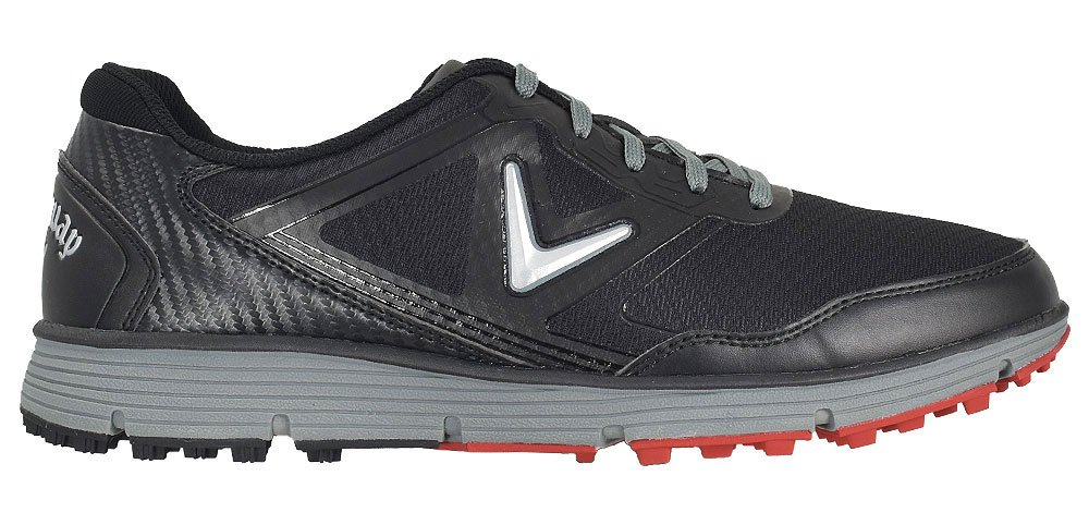 Callaway Men's Balboa Vent Golf Shoe, Black/Grey, 8 D US by Callaway (Image #1)